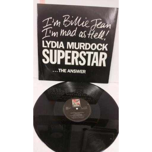 LYDIA MURDOCK superstar, 12 inch single, KOW 30 T