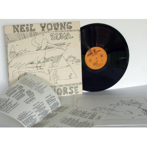NEIL YOUNG Zuma Complete with cartoon inner sleeve....