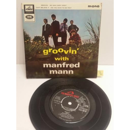 """MANFRED MANN groovin' with Manfred Mann 4 TRACK PICTURE SLEEVE 7"""" SINGLE 7EG8876"""