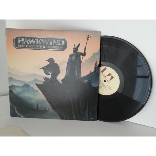 Hawkwind MASTERS OF THE UNIVERSE. First UK pressing on the buff brown UA label, 1972