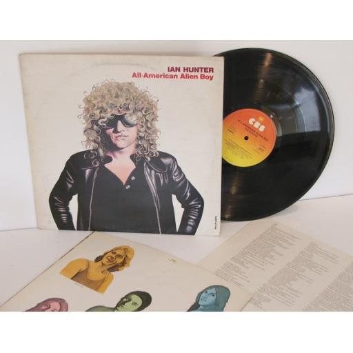 SOLD : IAN HUNTER, all American Alien boy With inner lyric sheet. 1976. CBS [Vinyl]