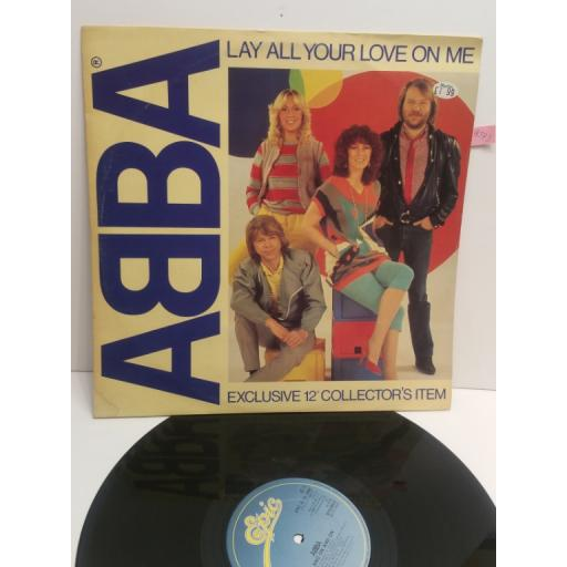 "ABBA lay all your love on me EXCLUSIVE 12"" COLLECTORS ITEM EPC10022"