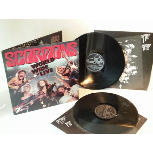 SOLD Scorpions WORLD WIDE LIVE. First UK pressing 1985