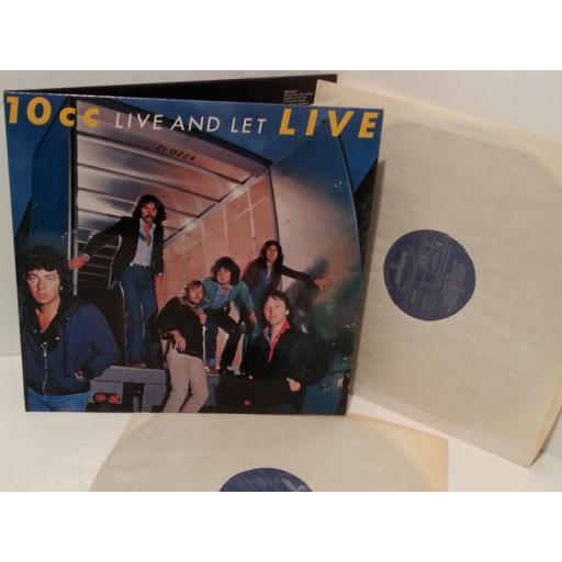 10CC live and let live live, gatefold, double album,6641 698