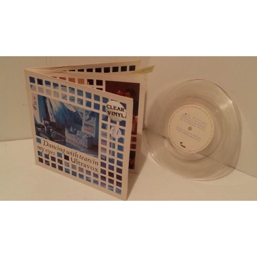 "SOLD: ULTRAVOX dancing with tears in my eyes, gatefold, clear vinyl, UV 1, 7"" single"