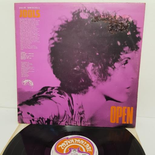 "BRIAN AUGER, JULIE DRISCOLL AND THE TRINITY, open, 607002, 12"" LP, mono"