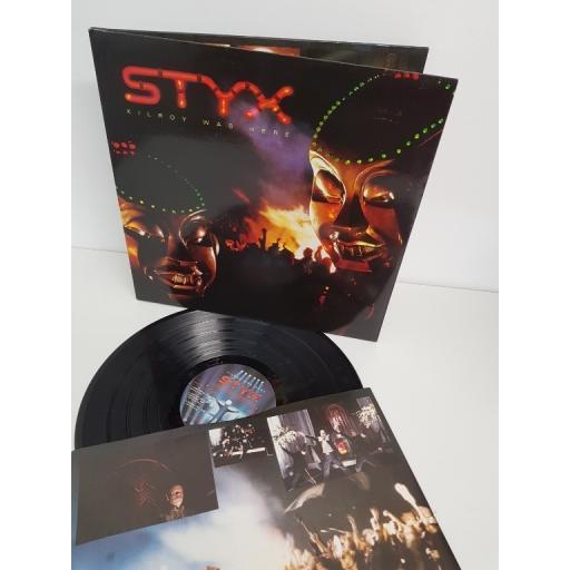 "STYX, kilroy was here, AMLX 63734, 12"" LP"