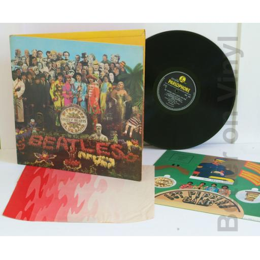 BEATLES SGT Peppers lonely hearts club band Complete with cut-out and red a...