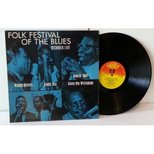 VARIOUS ARTISTS folk festival of the blues recorded live