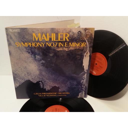 MAHLER, CZECH PHILHARMONIC ORCHESTRA, VACLAV NEUMANN symphony no. 7 in e minor, gatefold, 2PAL-2003, double album
