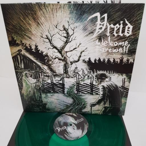 "VREID, welcome farewell, BOBV358LP, 12"" LP, limited edition"