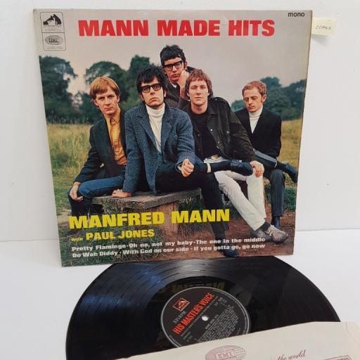 "MANFRED MANN WITH PAUL JONES, mann made hits, CLP 3559, 12"" LP, compilation, mono"