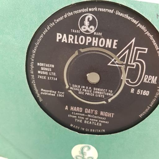 "THE BEATLES, a hard day's night, B side things we said today, R 5160, 7"" single"