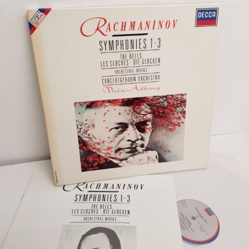 "Rachmaninov, Vladimir Ashkenazy, Concertgebouw Orchestra – Symphonies 1 - 3, The Bells, Orchestral Works, 417 433-1, 4x12"" LP, compilation, box set"