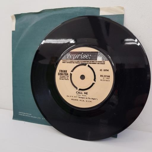 "NANCY SINATRA AND FRANK SINATRA, somethin' stupid, B side call me, RS.23166, 7"" single"