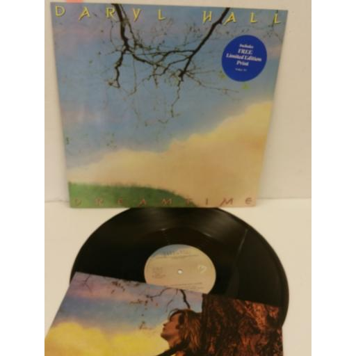 DARYL HALL dreamtime, 12 inch single, limited edition print, HALL T1