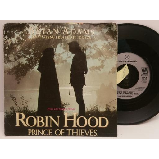 BRYAN ADAMS everything I do FROM ROBIN HOOD PRINCE OF THIEVES. 7 INCH PICTURE SLEEVE. AM 789