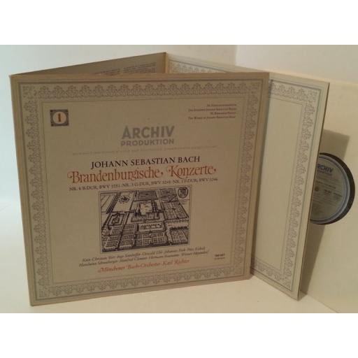 JOHANN SEBASTIAN BACH, MUNCHENER BACH ORCHESTER , KARL RICHTER Brandenburgische Konzerte (1) (Nr. 6 B-Dur, BWV 1051 · Nr. 3 G-Dur, BWV 1048 · Nr. 1 F-Dur, BWV 1046), tri fold, 198 487