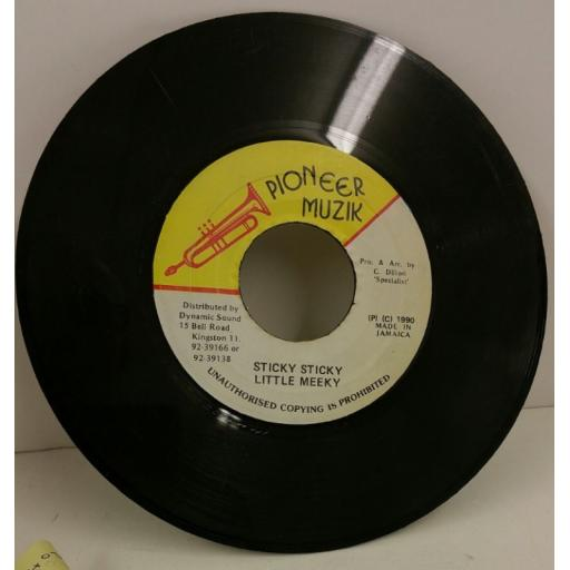 LITTLE MEEKY sticky sticky, 7 inch single