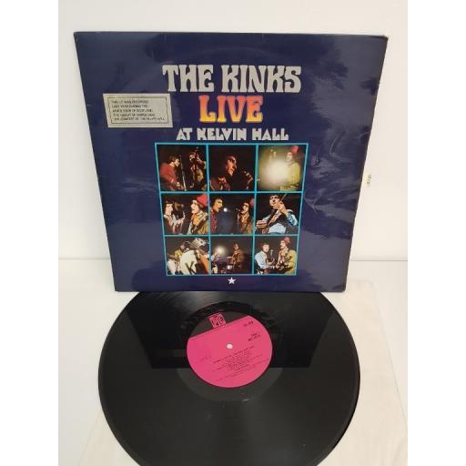 "THE KINKS, live at Kelvin hall, NPL 18191, 12"" LP"