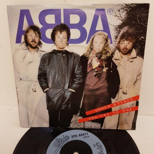 "ABBA, under attack, B side you owe me one, EPC A2971, 7"" single"