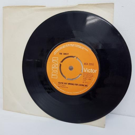 "THE SWEET, funny, funny, B side you're not wrong for loving me, RCA 2051, 7"" single"