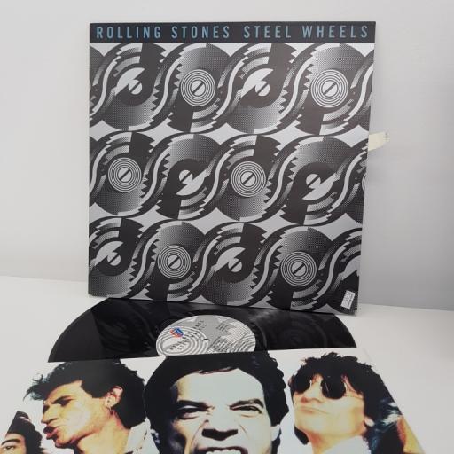 "THE ROLLING STONES, steel wheels, 12"" LP, CBS 465752-1"