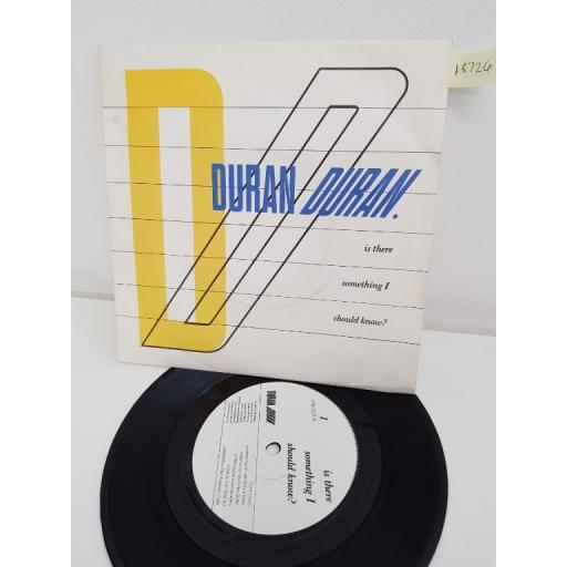 DURAN DURAN, is there something i should know?, side B faith in this colour, EMI 5371, 7'' single