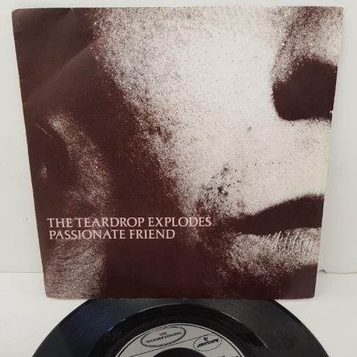 "THE TEARDROP EXPLODES, passionate friend, B side christ versus warhol, TEAR 5, 7"" single"