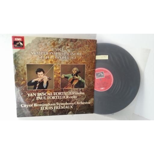 CITY OF BIRMINGHAM SYMPHONY ORCHESTRA, YAN PASCAL TORTELIER, PAUL TORTELIER, LALO lalo symphonie espagnole cello concerto, ASD 3209