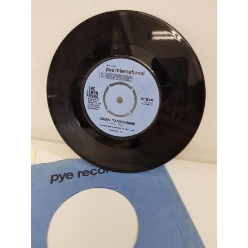 THE LEMON PIPERS, green tambourine, side B no help from me, 7N.25444, 7'' single