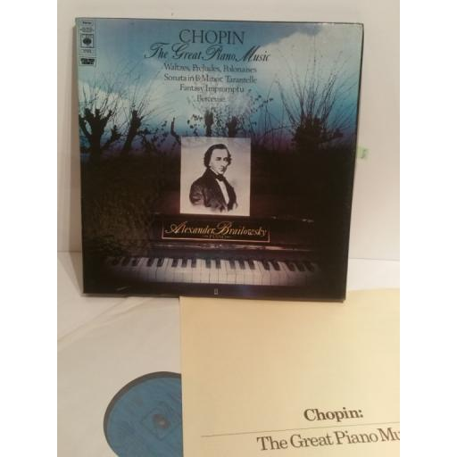 Chopin - The Great Piano Music, Alexander Brailowsky - BOX CBS 77375, 3 x lp box set with insert,