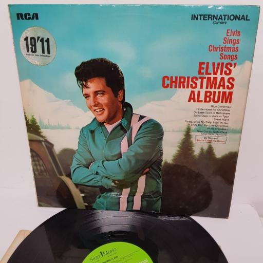 "ELVIS PRESLEY, elvis' christmas album, 12"" LP"