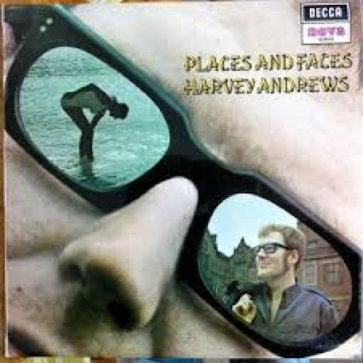 Harvey Andrews PLACES AND FACES, First UK pressing 1970 on Decca Nova