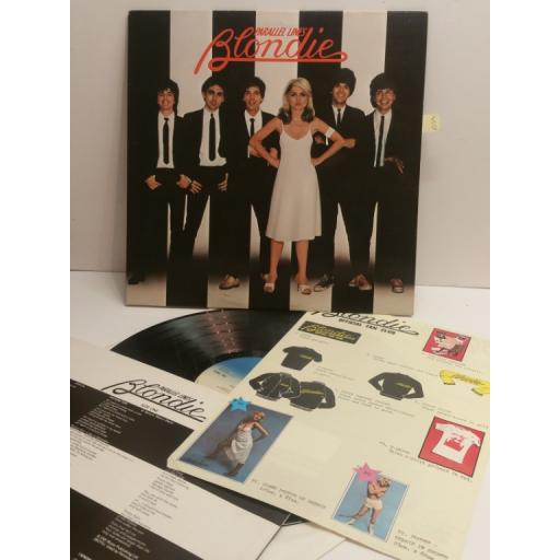 BLONDIE parallel lines WITH OFFICIAL FAN CLUB FLYER CDL1192