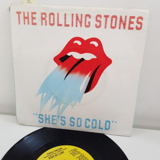 "THE ROLLING STONES, she's so cold, B side send it to me, RSR 106, 7"" single"
