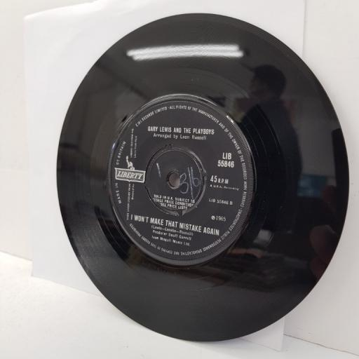 """GARY LEWIS AND THE PLAYBOYS, she's just my style, B side I won't make that mistake again, LIB 55846, 7"""" single"""