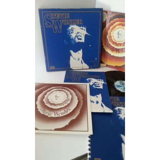 STEVIE WONDER songs in the key of life, 2 x lp, 7 inch single, special presentation pack to an employee with name embossed on front of box, TMSP 6002