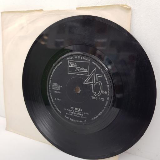 "EDWIN STARR, 25 miles, B side mighty good lovin', TMG 672, 7"" single"