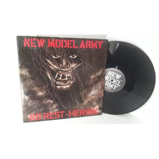 NEW MODEL ARMY no rest/heroin, 12 inch single, 12 NMA 1