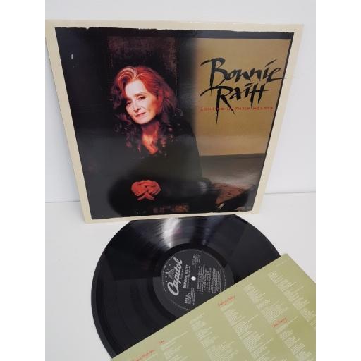 "BONNIE RAITT, longing in their hearts, EST 2227, 12"" LP"