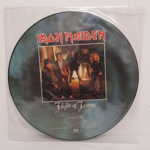 IRON MAIDEN, side A flight of icarus, side B i've got the fire, 5378, 12''LP, PICTURE VINYL