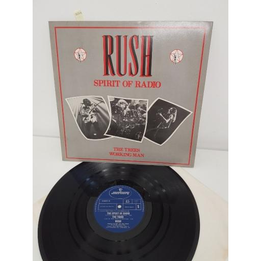 "RUSH, spirit of radio, the trees working man, RADIO 12, 12"" SINGLE"
