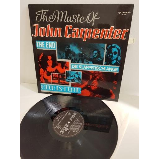 """JOHN CARPENTER, the music of john carpenter, ZYX 20038, 12""""LP"""