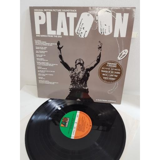 "PLATOON, original motion soundtrack platoon and songs from the era, WX 95, 12""LP"