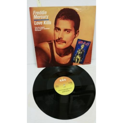 FREDDIE MERCURY love kills, 12 inch single, TA 4735