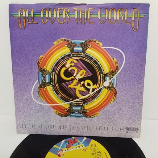 "ELECTRIC LIGHT ORCHESTRA, all over the world, B side midnight blue, JET 195, 7"" single"