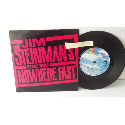 "JIM STEINMANS FIRE INC/ MARILYN MARTIN nowhere fast/ sorcerer, PICTURE SLEEVE 7"" single, MCA 920"