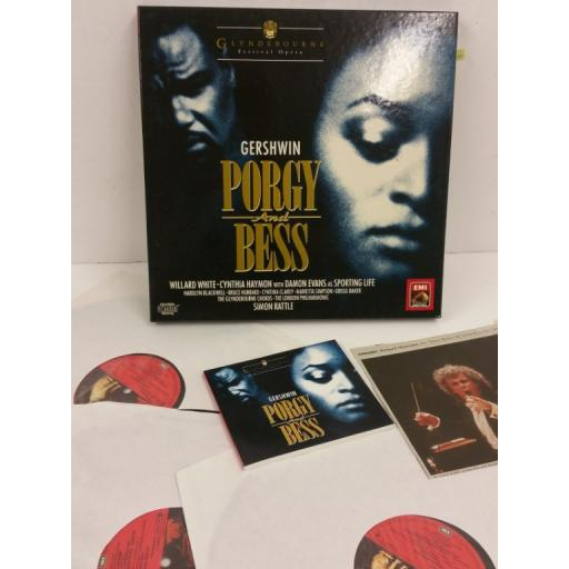 GERSHWIN porgy and bess, 3 x lp, booklet, boxset, 7 49568 1