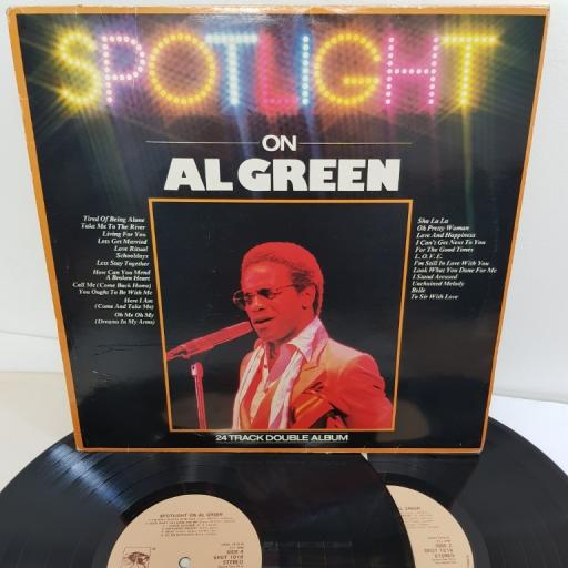 "AL GREEN, spotlight on al green, SPOT 1016, 2x12"" LP, compilation"